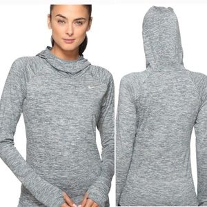 Nike Heather Grey Dri-fit Hoodie